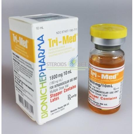 """Tri-Med Bioniche"" vaistinė (3 trenbolonai) 10 ml (180 mg / ml)"