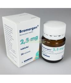 Bromergon (Bromocriptine mesylate) Sandoz 30 tabs [2,5 mg / tab]